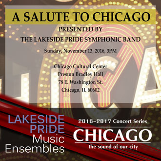 Salute to Chicago concert promotional poster