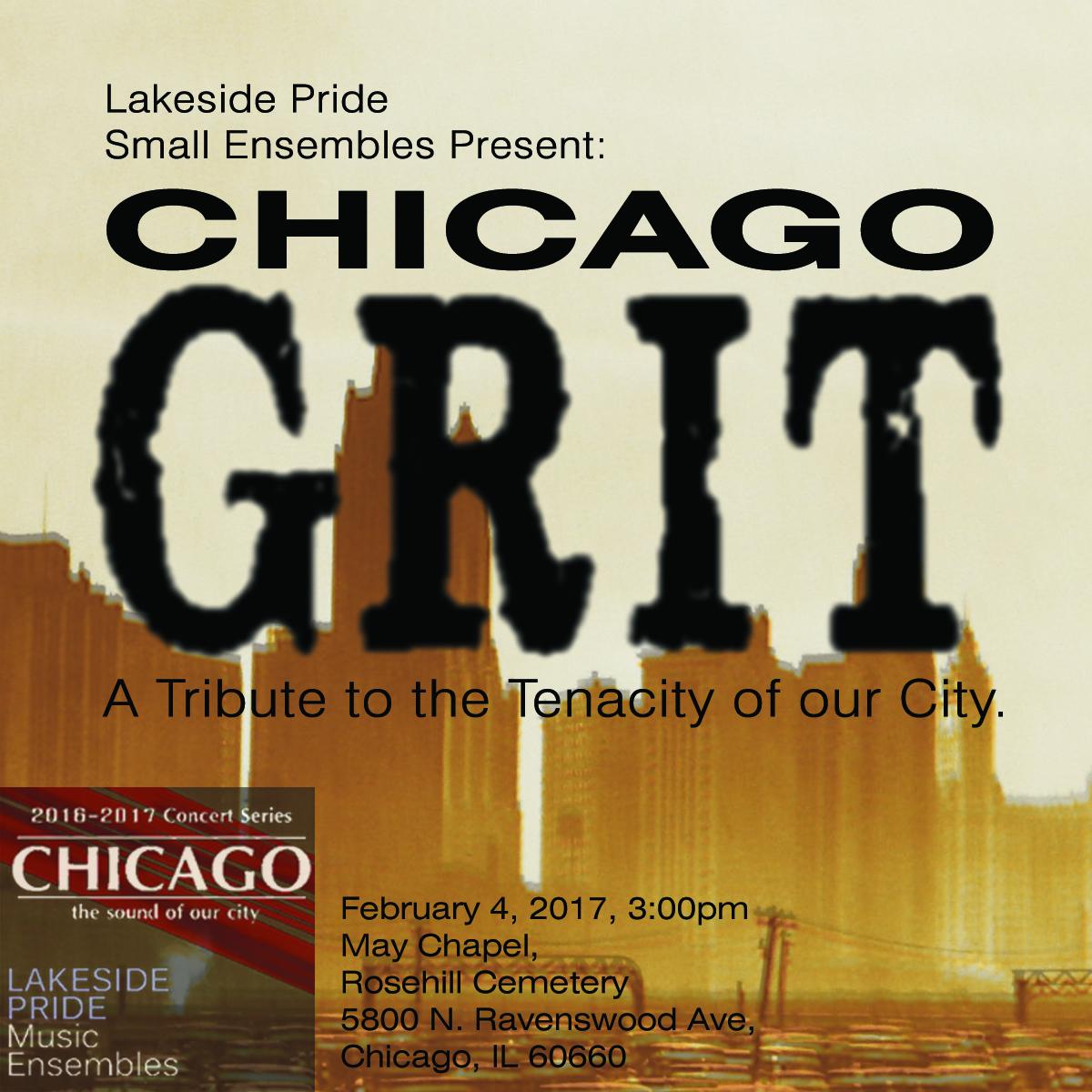 Chicago Grit concert promotional poster