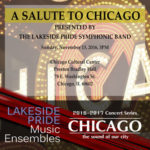 A Salute to Chicago concert promotional poster