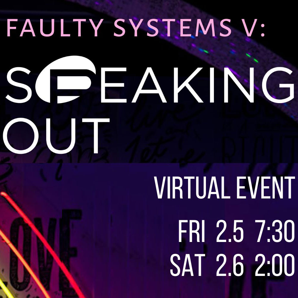 Speaking Out virtual event in early February