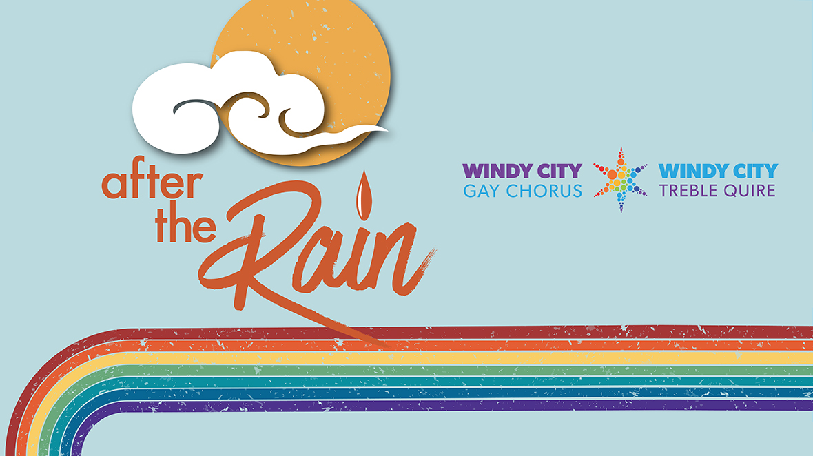 """Windy City Performing Arts """"After the the Rain"""" weather poster graphic"""